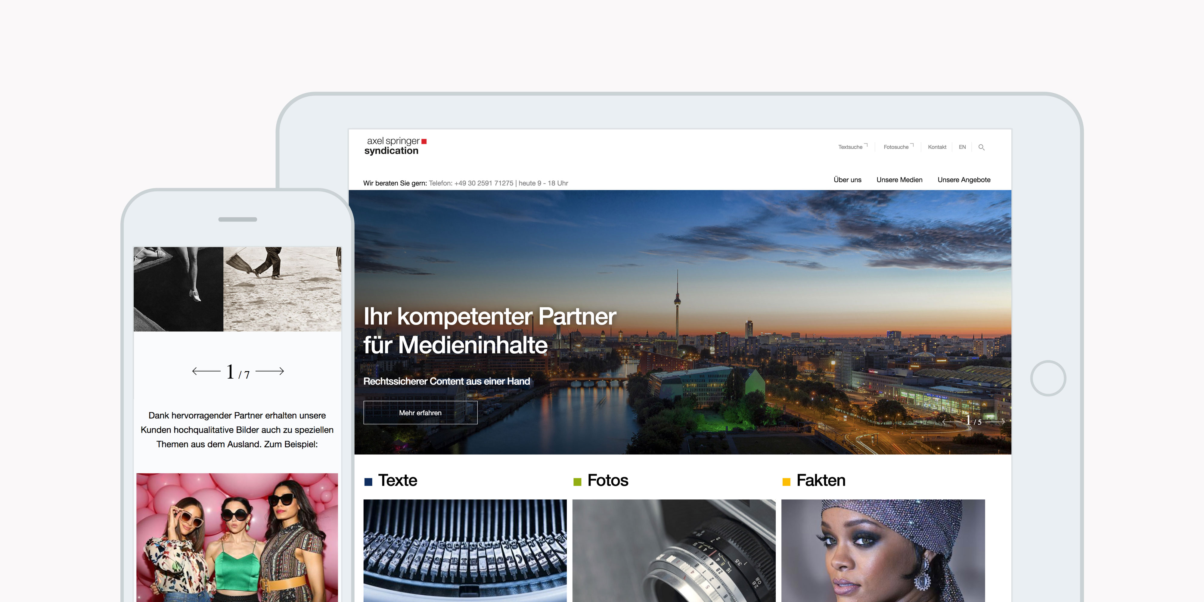 TBO INTERACTIVE Axel Springer Syndication Website