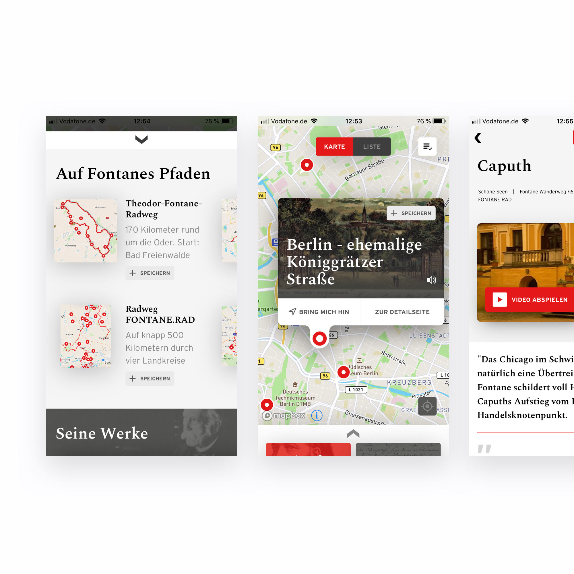 FONTANE iOS & Android App